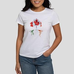 Canada Irish Roots Women's Cap Sleeve T-Shirt