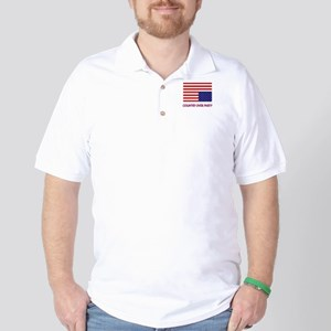 COUNTRY OVER PARTY - FLAG IN DISTRESS Golf Shirt