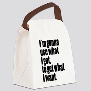 I'm gonna use what I got, to get what I want. Canv