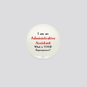 administrative assistant Mini Button