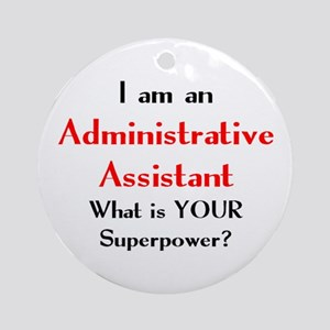 administrative assistant Round Ornament