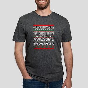 2017 First Christmas Awesome Nana Ugly Swe T-Shirt