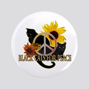 "Black Cats for Peace 3.5"" Button"
