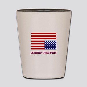 COUNTRY OVER PARTY - FLAG IN DISTRESS Shot Glass
