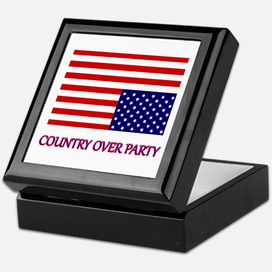 COUNTRY OVER PARTY - FLAG IN DISTRESS Keepsake Box