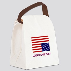 COUNTRY OVER PARTY - FLAG IN DIST Canvas Lunch Bag