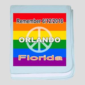 Remember 6/12/2016 Orlando, Florida baby blanket