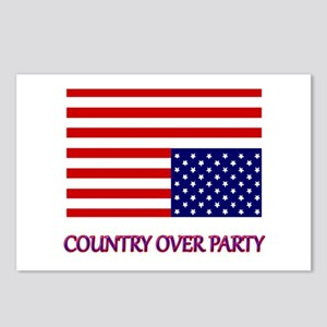 COUNTRY OVER PARTY - FLAG Postcards (Package of 8)