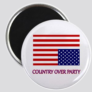 COUNTRY OVER PARTY - FLAG IN DISTRESS Magnet
