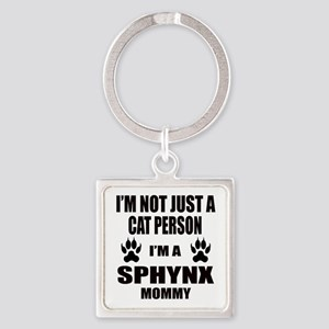 I'm a Sphynx Mommy Square Keychain