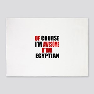 Of Course I Am Egyptian 5'x7'Area Rug