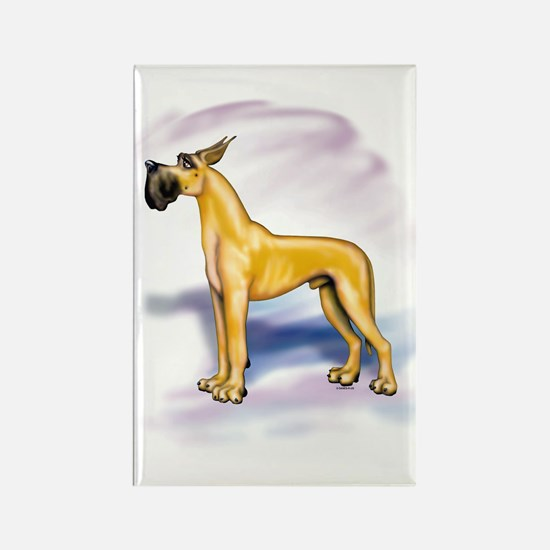 Great Dane Fawn Stackin Rectangle Magnet