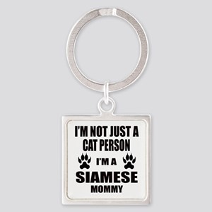 I'm a Siamese Mommy Square Keychain