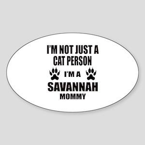I'm a Savannah Mommy Sticker (Oval)