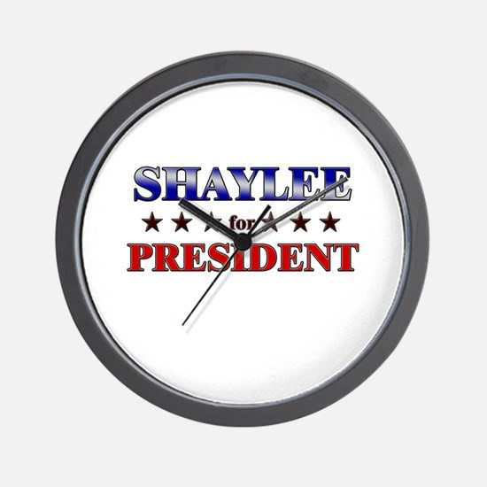 SHAYLEE for president Wall Clock
