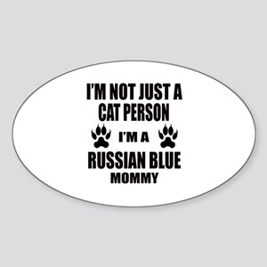 I'm a Russian Blue Mommy Sticker (Oval)
