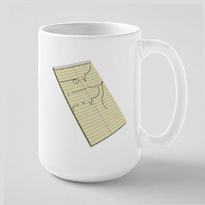 Legible Shorthand Large Mug