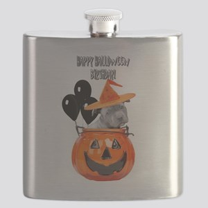 Happy Halloween Birthday Pitbull Flask