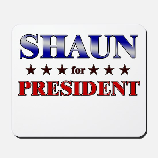 SHAUN for president Mousepad