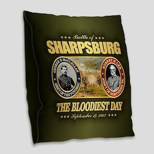 Sharpsburg Burlap Throw Pillow