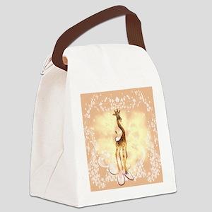 Cute giraffe Canvas Lunch Bag