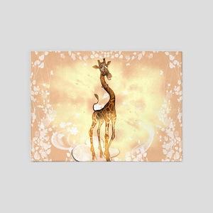 Cute giraffe 5'x7'Area Rug