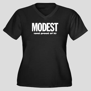 Modest and proud of it Women's Plus Size V-Neck Da