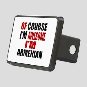 Of Course I Am Armenian Rectangular Hitch Cover