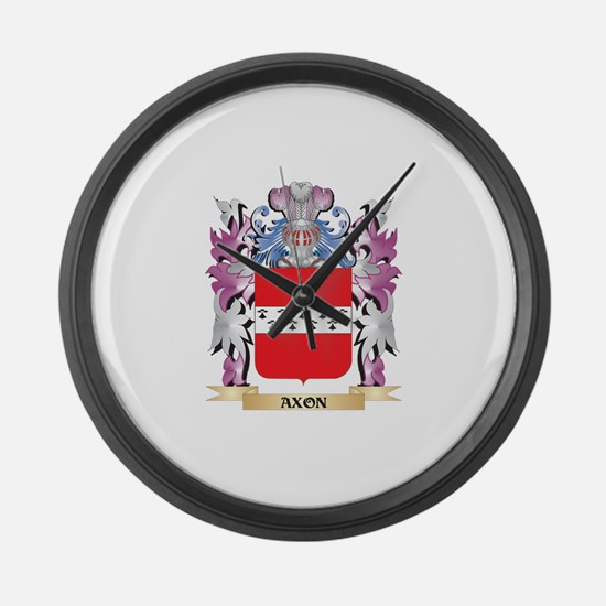 Axon Coat of Arms (Family Crest) Large Wall Clock