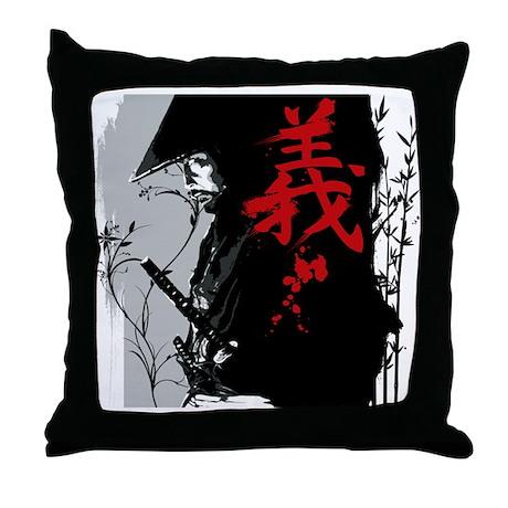 GI Dark Samurai Throw Pillow
