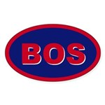 Boston, Massachusetts Oval Sticker