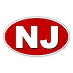 Newark, New Jersey Oval Sticker