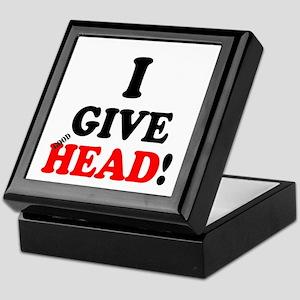 I GIVE HEAD! Keepsake Box
