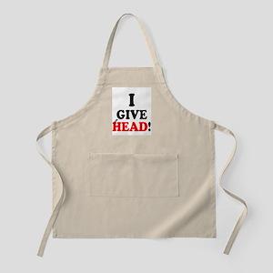 I GIVE HEAD! Apron