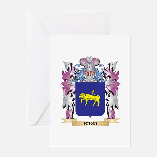 Baca Coat of Arms (Family Crest) Greeting Cards