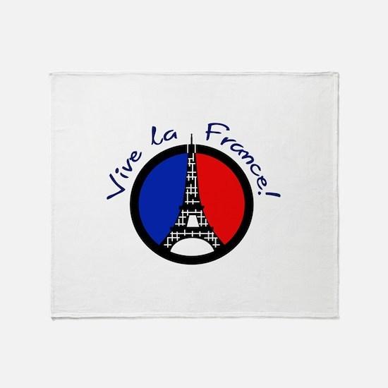 Vive La France Throw Blanket