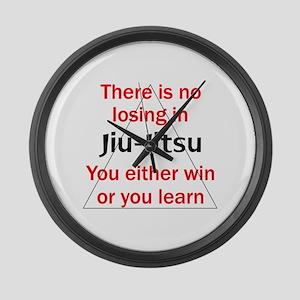 No Losing In Jiu Jitsu Large Wall Clock