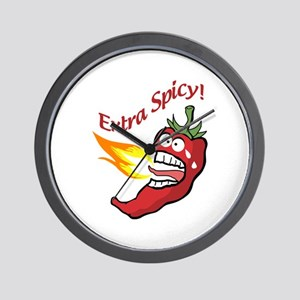 Extra Spicy Pepper Wall Clock