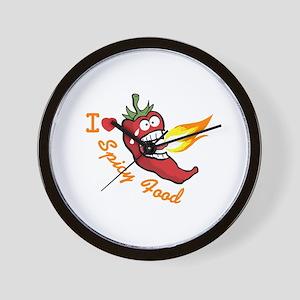 Love Spicy Food Wall Clock