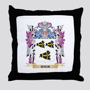 Baer Coat of Arms (Family Crest) Throw Pillow
