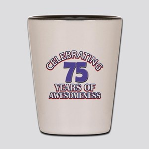 75th birthday design Shot Glass