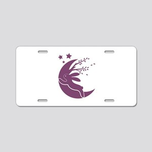 Bunny Moon Aluminum License Plate