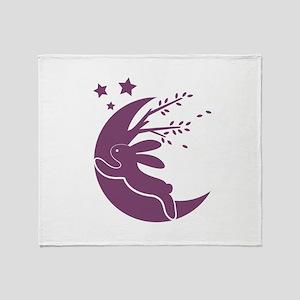 Bunny Moon Throw Blanket