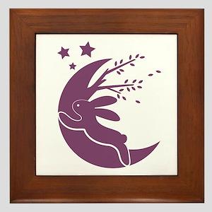 Bunny Moon Framed Tile