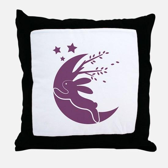 Bunny Moon Throw Pillow