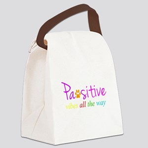 Pawsitive Vibes All The Way Canvas Lunch Bag