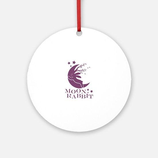 Moon Rabbit Round Ornament