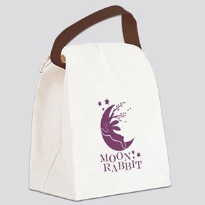 Moon Rabbit Canvas Lunch Bag
