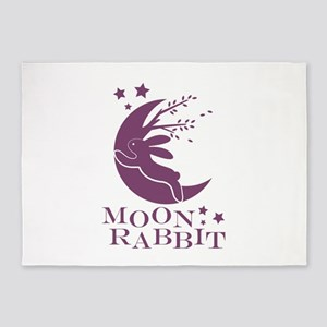 Moon Rabbit 5'x7'Area Rug