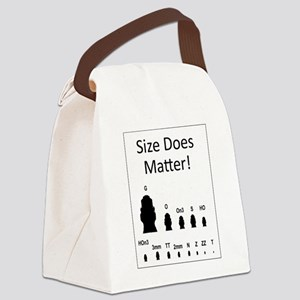 Size Does Matter Canvas Lunch Bag